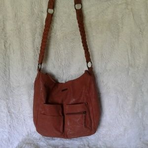 Large leather crossbody purse